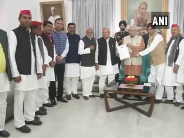 BSP-SP delegation tells UP governor that 'dictator' Yogi Adityanath's govt 'undemocratically' stopped Akhilesh Yadav at Lucknow airport