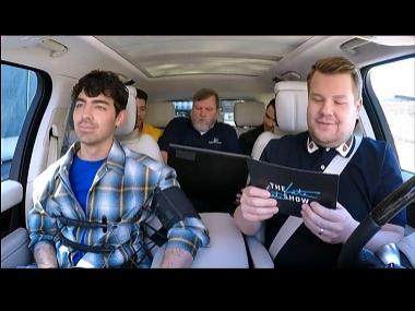 Jonas Brothers take lie detector tests, perform their classic hits on Carpool Karaoke with James Corden