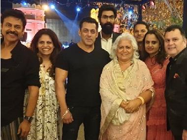 Watch: Salman Khan dances with Venkatesh at his daughter Aashritha Daggubati's Jaipur wedding