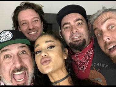 Ariana Grande performs with *NSYNC, Nicki Minaj and Diddy at Coachella 2019