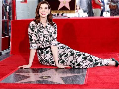 Oscar-winning actress Anne Hathaway honoured with star on Hollywood Walk of Fame