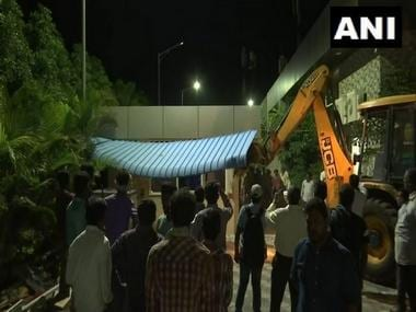 Andhra Pradesh govt starts dismantling  'illegal' hall built by former CM Chandrababu Naidu, HC rejects plea for stay action