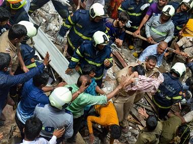 Mumbai building collapse: Crowds hamper rescue work; NDRF conducts ops manually after narrow roads restrict movement