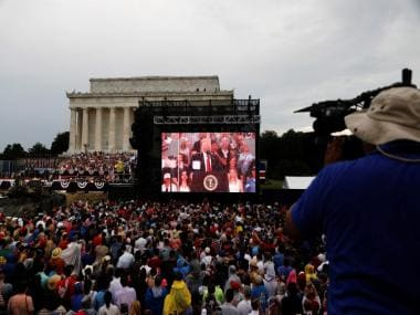 4 July Parade: Donald Trump celebrates America's Independence Day with display of country's military might
