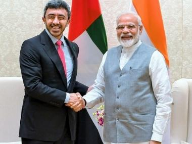 Narendra Modi meets UAE foreign minister, vows to step up cooperation with country in trade, energy