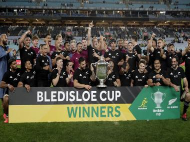 Bledisloe Cup: All Blacks retain trophy for record 18th straight year after beating Australia 43-5