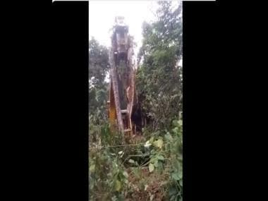 Jaw-dropping video shows massive snake being lifted by crane; clip goes viral