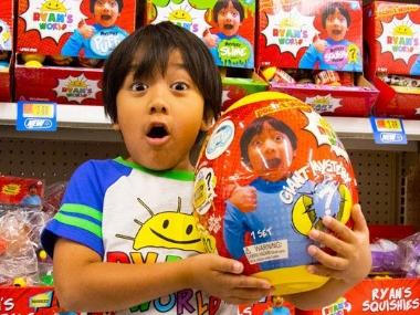Seven-year-old toy reviewer Ryan becomes YouTube's highest earner after raking in $22 mn