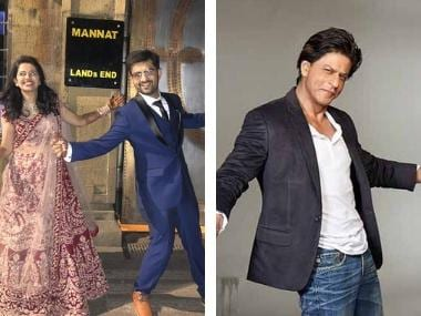 Shah Rukh Khan surprises newly wed couple posing in front of Mannat, responds to groom on Twitter