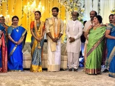 Rajinikanth's daughter Soundarya and Vishagan Vanangamudi's pre-wedding festivities begin with reception