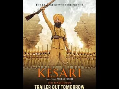 Kesari: Ahead of trailer release on 21 February, Akshay Kumar shares new poster of war drama