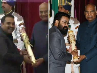 Padma Awards 2019: Ram Nath Kovind presents honours to Mohanlal, Prabhu Deva, Manoj Bajpayee, Shankar Mahadevan