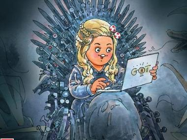 Game of Thrones season 8: Amul girl binge-watches HBO show, perched on the Iron Throne