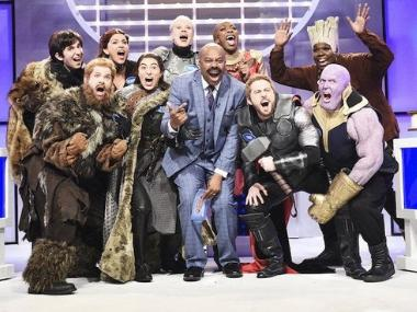 Game of Thrones, Avengers: Endgame characters face off in hilarious SNL Family Feud parody sketch