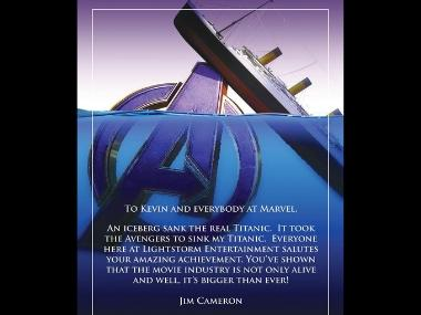 Avengers: Endgame — James Cameron salutes Marvel team for 'sinking Titanic' to become second highest-grossing film