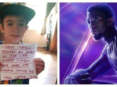 Black Panther star Chadwick Boseman receives letter from young fan in Wakandan language