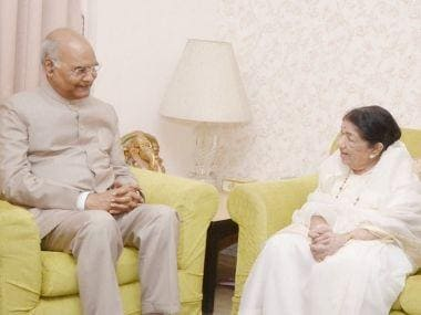 Ram Nath Kovind meets Lata Mangeshkar in Mumbai, says singer 'has sweetened our lives with her melody'