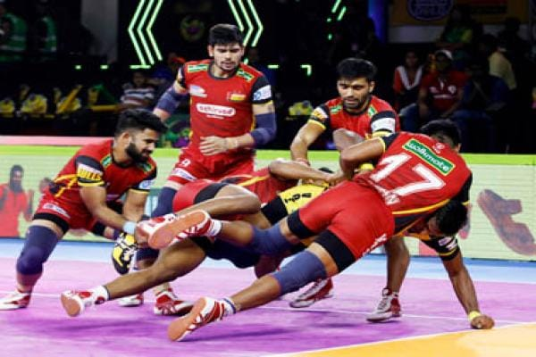 Pro Kabaddi 2019 Playoffs Highlights, UP Yoddha vs Bengaluru Bulls in Ahmedabad: Bengaluru win thrilling contest in extra time