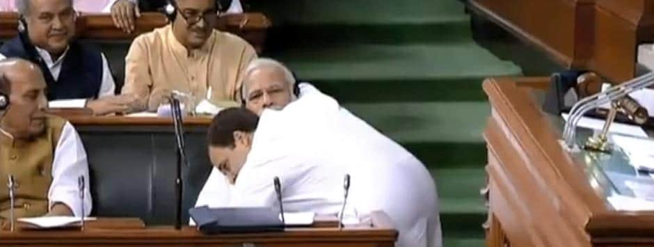 No-confidence motion LIVE updates: Rahul Gandhi follows up bhookamp speech with jaadu ki jhappi, hugs Modi