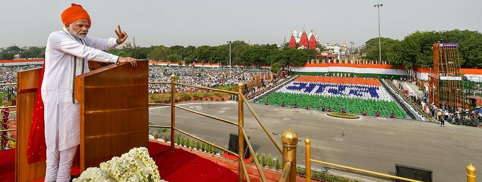 Narendra Modi's statesmanly Independence Day speech marks a tectonic shift from old BJP-RSS formula