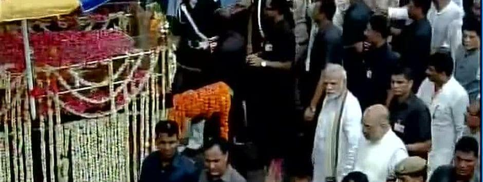 Atal Bihari Vajpayee funeral LIVE updates: Narendra Modi, Amit Shah to walk 3.6-km stretch to Smriti Sthal with ex-PM's mortal remains