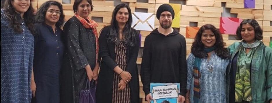 My poster in Jack Dorsey's hands wasn't the point; real threat to trolls was me seeking safety of oppressed on Twitter