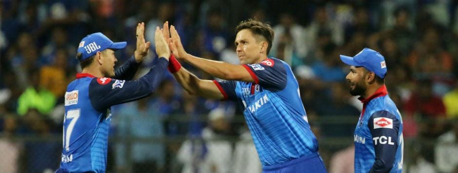 IPL 2019 LIVE score, MI vs DC Match at Mumbai: Krunal dismissed by Boult for 32