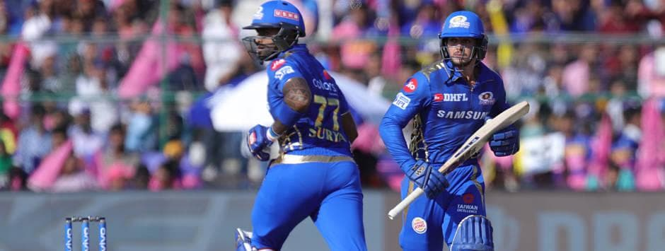 IPL 2019 LIVE SCORE, RR vs MI Match at Sawai Mansingh Stadium: Suryakumar, de Kock bring up 50-run stand