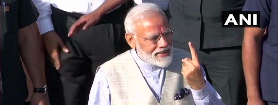 Lok Sabha Election 2019 Phase 3 Voting LIVE Updates: Narendra Modi casts vote in Ranip, Ahmedabad; PM met with Amit Shah outside polling booth