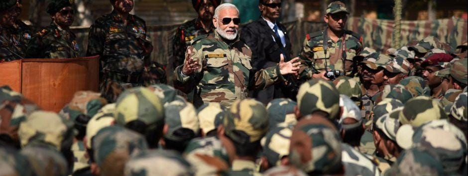 Projecting Narendra Modi as hawkish PM is BJP's 2019 poll plank: Militaristic imagery and rhetoric has replaced talk of vikas