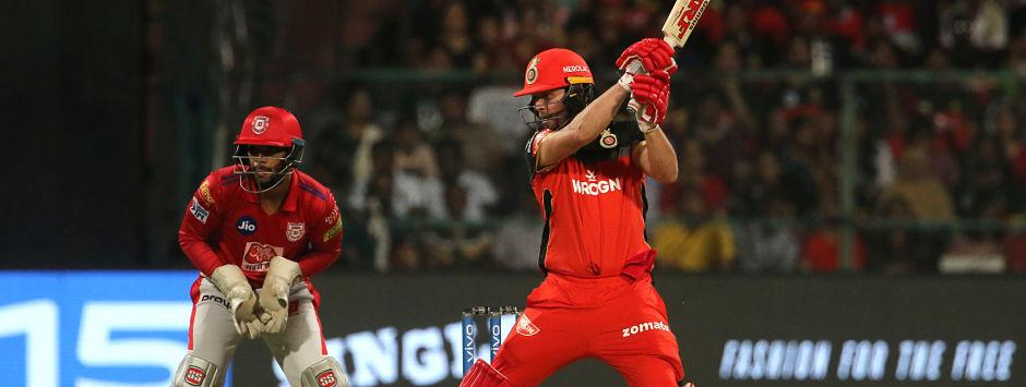 IPL 2019 LIVE SCORE, RCB vs KXIP Match at M Chinnaswamy Stadium: De Villiers begins attack after time-out