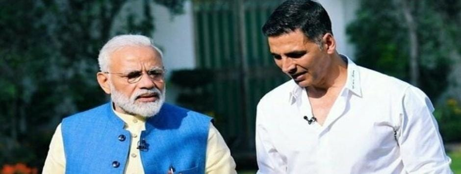 Akshay Kumar interviews Narendra Modi: An artistic appreciation of PM demonstrating ye olde 'Man Tells Wife Joke'
