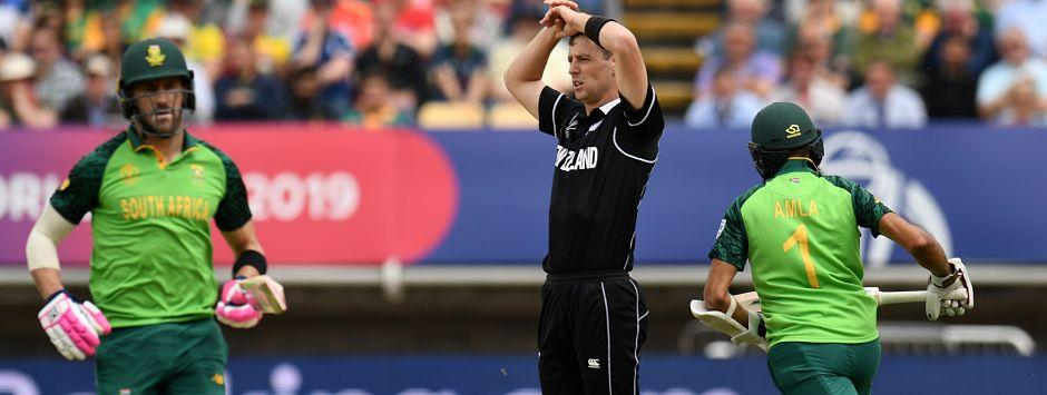 New Zealand vs South Africa LIVE SCORE, ICC Cricket World Cup 2019 Match: Ferguson removes du Plessis for 23