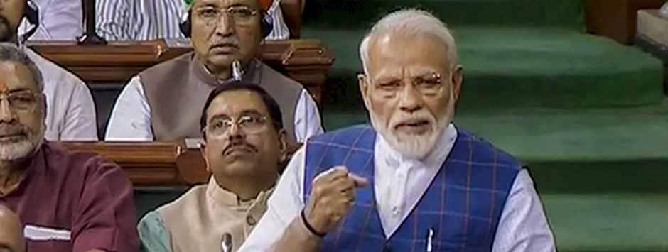 In Lok Sabha address, Modi scalds Congress' devotion to Nehru-Gandhi family, says party has lost touch with reality
