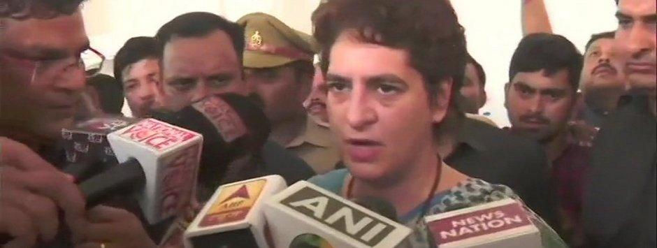 Priyanka Gandhi Sonbhadra visit LIVE Updates: 15 members of victims' family reach Chunar fort guest house to meet Congress leader
