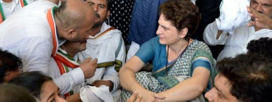 Priyanka Gandhi Sonbhadra visit LIVE Updates: Priyanka claims administration complicit in crime, says police filed bogus cases against tribals to grab their land