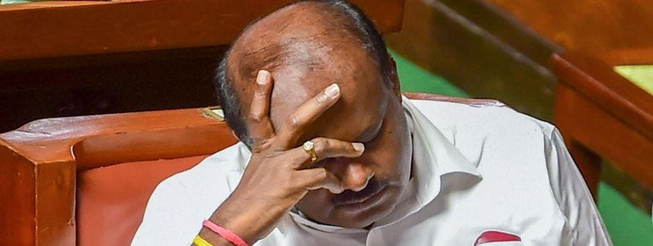 Karnataka Assembly Floor Test LIVE Updates: BJP slams Kumaraswamy for absence in Assembly, says CM continues to 'loot, waste' taxpayers' money