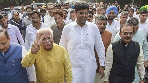 Haryana govt formation updates: Manohar Lal Khattar sworn-in for 'second innings' as CM, Dushyant Chautala takes oath deputy CM