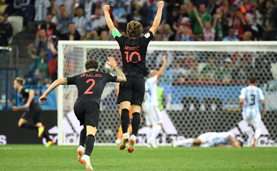 The first glimpses of Croatia's ability to function well as a team came in their second group stage, when they took apart a hapless Argentina side and contained the threat posed by Lionel Messi. Croatia stormed to a 3-0 win over the South Americans, with talismanic midfielder Luka Modric scoring a goal. AFP