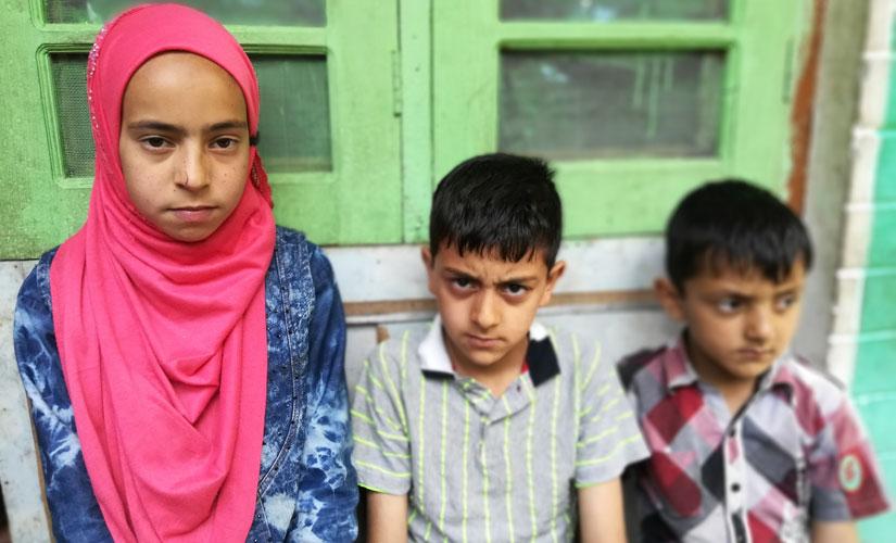 (L-R) Mumtaz Awan's daughter Mehvish Mumtaz is, son Shahnawaz Mumtaz and his youngest son Muneeb Mumtaz. Image courtesy Daanish Bin Nabi