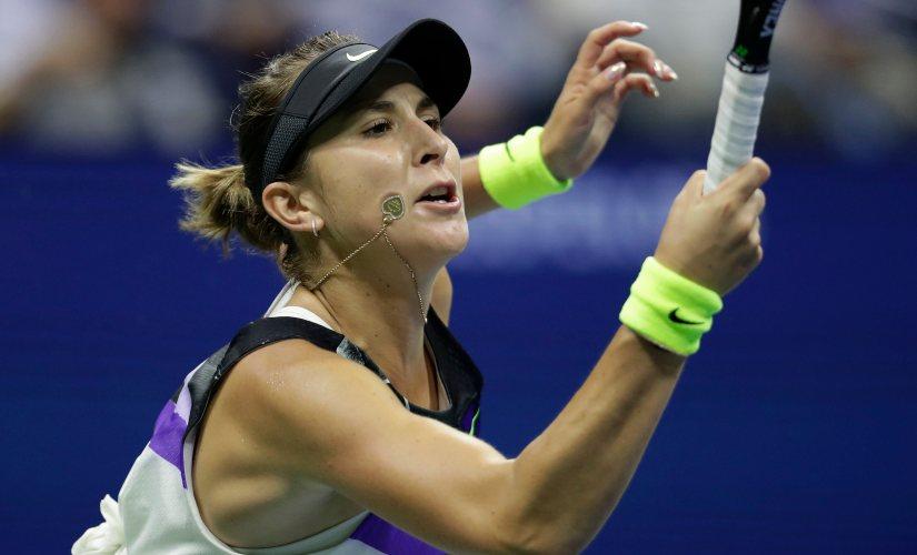 Belinda Bencic lost the second set despite being 5-2 up against Bianca Andreescu. AP