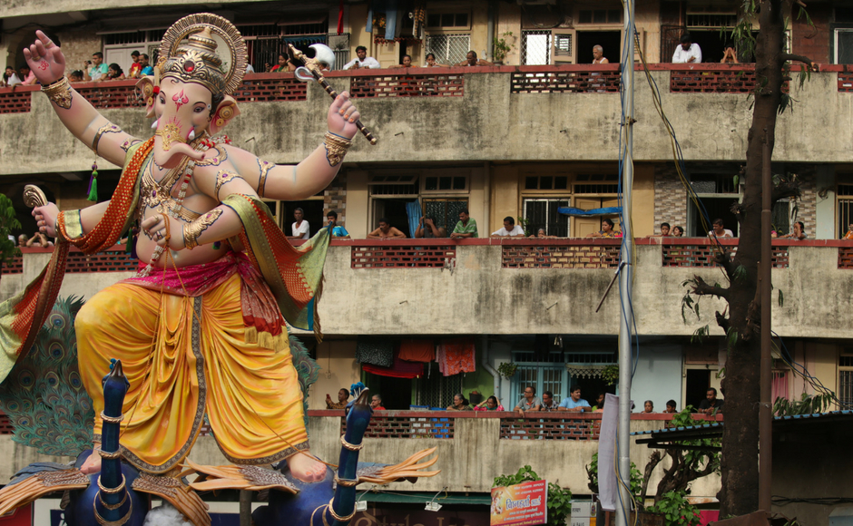 This year, Ganpati mandals in Mumbai will have to sign an undertaking issued by the fire department if they want to go ahead with Ganesh Chaturthi celebrations in the city. Sachin Gokhale/Firstpost