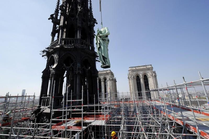 Paris Notre-Dame Cathedral engulfed by fire