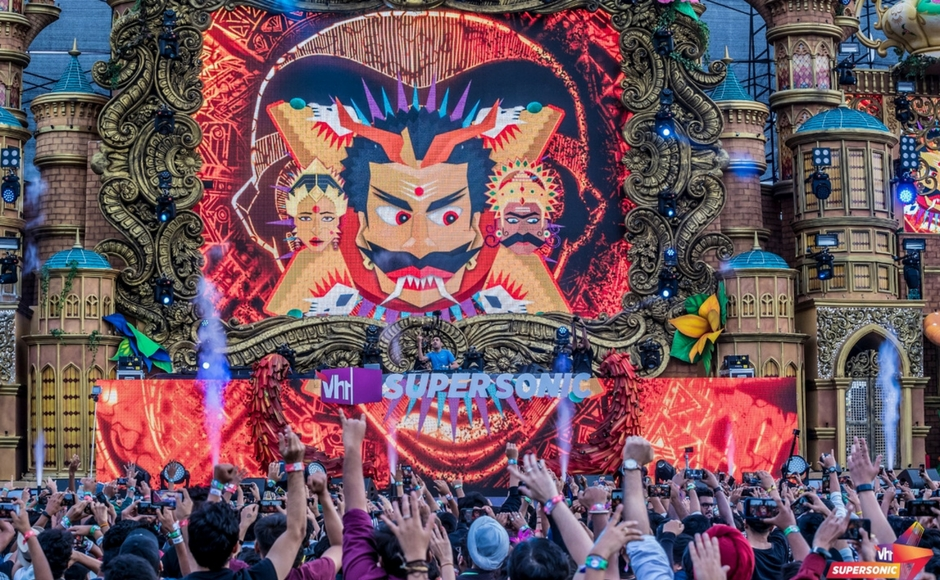 DJ Nucleya performs at VH1 Supersonic in Pune.