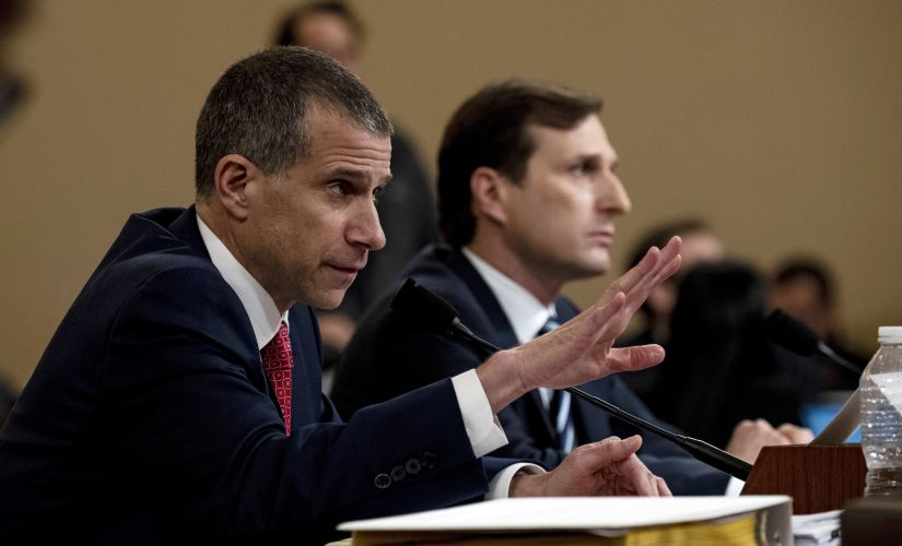 Steve Castor, a Republican staff attorney, testifies before a House Judiciary Committee hearing during presentations by Democratic and Republican lawyers on the evidence for and against impeaching President Donald Trump. Image:Anna Moneymaker/© 2019 The New York Times