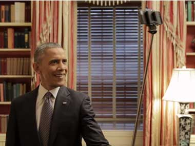 He uses a selfie stick and draws Michelle: New Obama Buzzfeed video goes viral