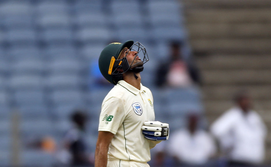 South Africa's Keshav Maharaj showed immense courage with the bat in hand, striking his maiden fifty and eventually registering his highest score in Tests (72). AP