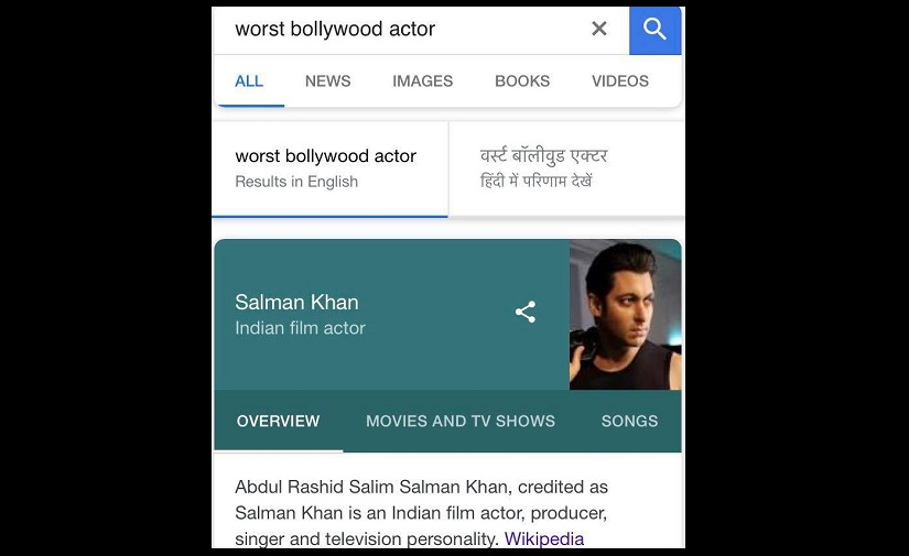 Did Google search show Salman Khan as worst actor in Bollywood? Race 3 reviews could be the reason
