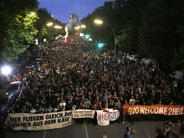 G20 Summit: 13 activists arrested as violent protests continue for second day in Hamburg