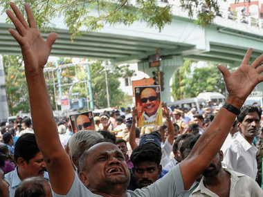 Karunanidhi battles for life: Outside Kauvery Hospital, DMK supporters hail Thailavars fighting spirit, hope for recovery